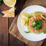 Tartare de saumon guacamole